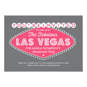 vegas bachelorette party invitations zazzle