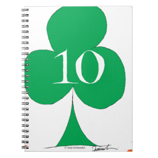 Lucky Irish 10 of Clubs, tony fernandes Notebook