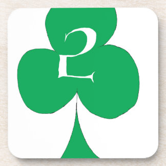 Lucky Irish 2 of Clubs, tony fernandes Beverage Coaster