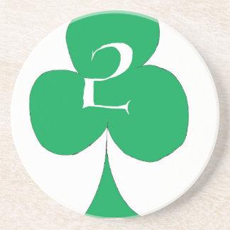 Lucky Irish 2 of Clubs, tony fernandes Drink Coaster