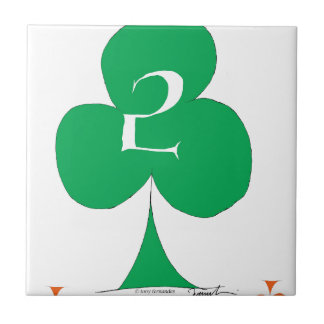 Lucky Irish 2 of Clubs, tony fernandes Tile