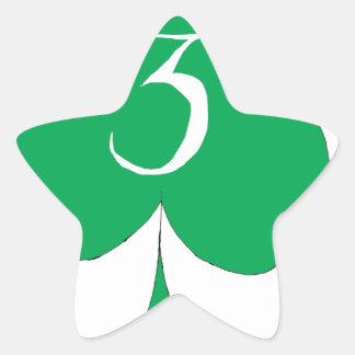 Lucky Irish 3 of Clubs, tony fernandes Star Sticker