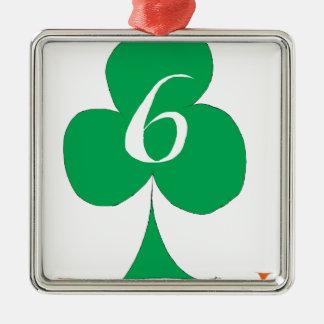 Lucky Irish 6 of Clubs, tony fernandes Metal Ornament