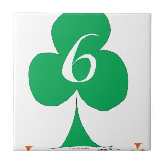 Lucky Irish 6 of Clubs, tony fernandes Tile