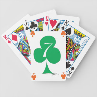 Lucky Irish 7 of Clubs, tony fernandes Bicycle Playing Cards