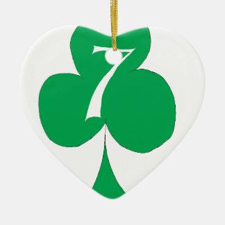 Lucky Irish 7 of Clubs, tony fernandes Ceramic Ornament