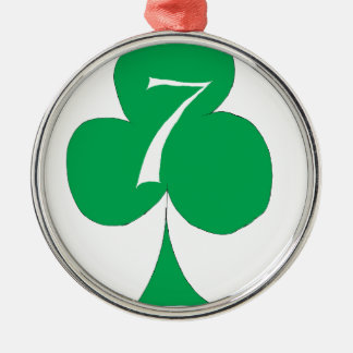 Lucky Irish 7 of Clubs, tony fernandes Metal Ornament