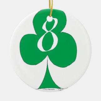 Lucky Irish 8 of Clubs, tony fernandes Ceramic Ornament