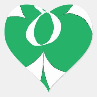 Lucky Irish 8 of Clubs, tony fernandes Heart Sticker