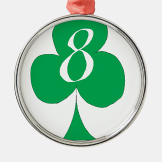 Lucky Irish 8 of Clubs, tony fernandes Metal Ornament