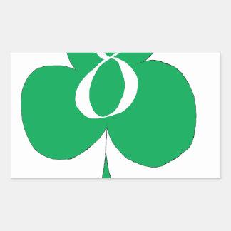 Lucky Irish 8 of Clubs, tony fernandes Rectangular Sticker