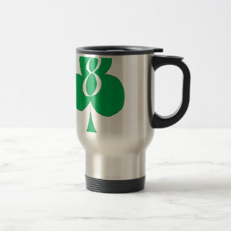 Lucky Irish 8 of Clubs, tony fernandes Travel Mug