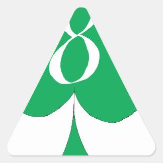 Lucky Irish 8 of Clubs, tony fernandes Triangle Sticker