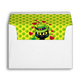 Lucky Irish Cat! Envelope