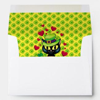 Lucky Irish Cat! Envelope