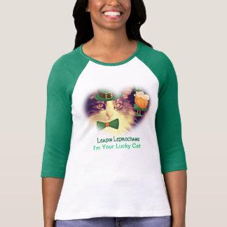 Lucky Irish Cat Ladies Tee Shirt