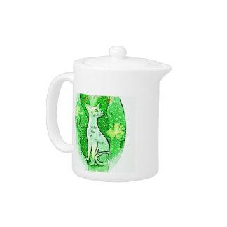 Lucky Irish Cat Teapot