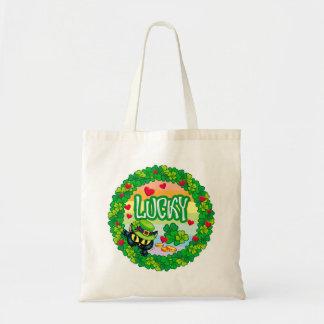 Lucky Irish Cat! Tote Bag