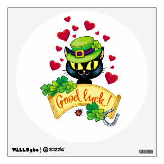 Lucky Irish Cat! Wall Sticker