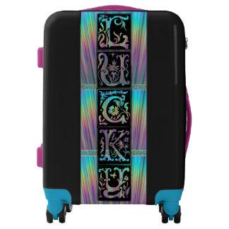 Lucky Irish Celtic Carry On! Add Initials, Neon! Luggage