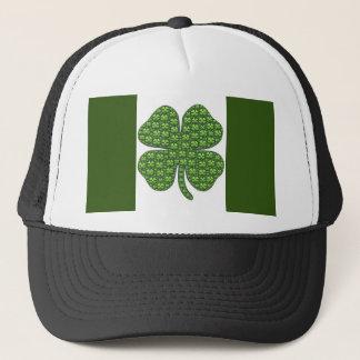 Lucky Irish Clover Flag Trucker Hat