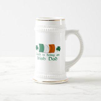 Lucky Irish Dad 18 Oz Beer Stein