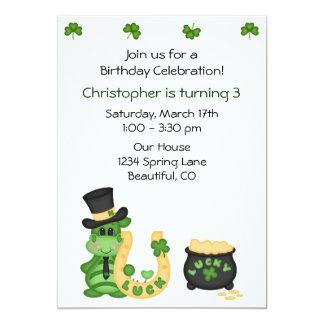 Lucky Irish Dragon Birthday Invite for Boys