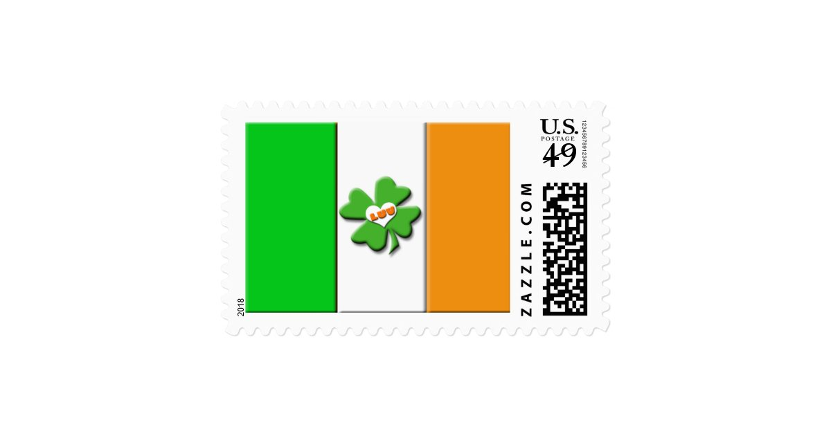Lucky Irish Flag Postage Zazzle