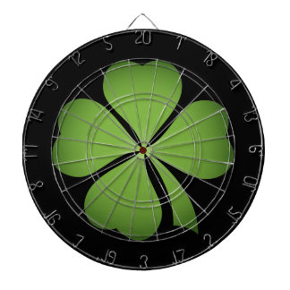 Lucky Irish Four Leaf clover Dartboard