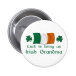Lucky Irish Grandma Button