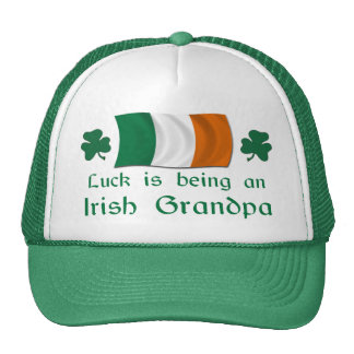 Lucky Irish Grandpa Trucker Hat