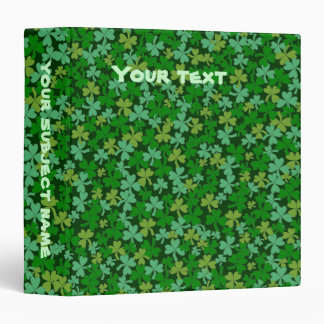 Lucky Irish Green Shamrocks Custom Binder