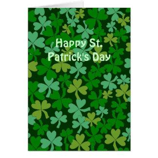 Lucky Irish Green Shamrocks Custom Greeting Card