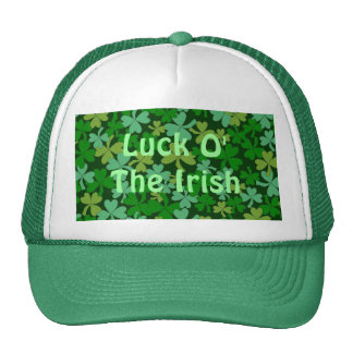 Lucky Irish Green Shamrocks Custom Hat