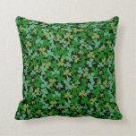 Lucky Irish Green Shamrocks Custom Pillow