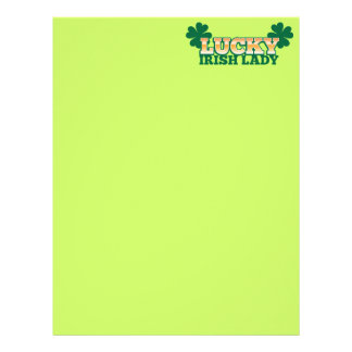 LUCKY IRISH Lady from The Beer Shop Letterhead