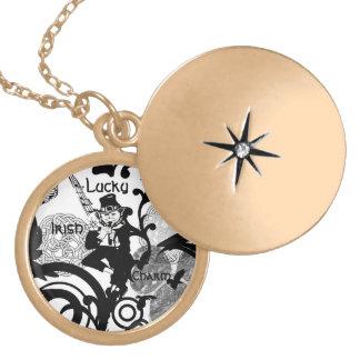 Lucky Irish Leprechaun Charm Necklace