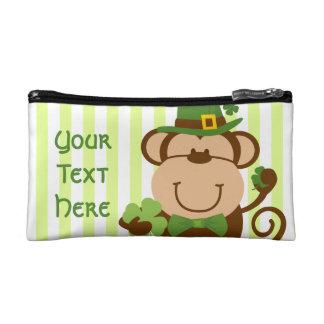 Lucky Irish Monkey Cosmetic Bag