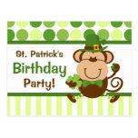 Lucky Irish Monkey Postcard Invitation