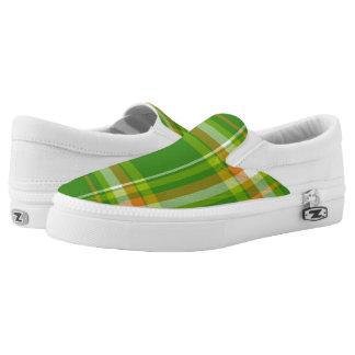Lucky Irish Plaid Slip On Shoes