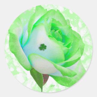 Lucky Irish Rose sticker