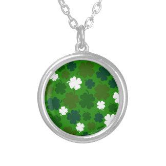 Lucky Irish Round Pendant Necklace
