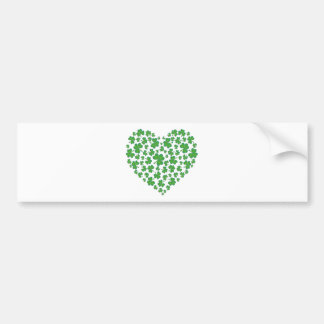 Lucky Irish Shamrock Heart Bumper Sticker