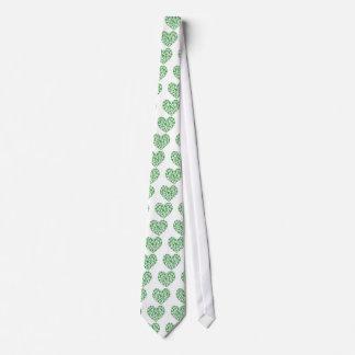 Lucky Irish Shamrock Heart Neck Tie