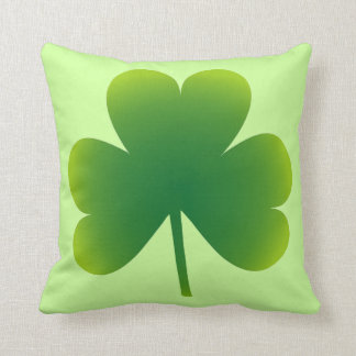 Lucky Irish Shamrock Throw Pillow