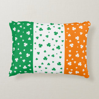 Lucky Irish Shamrocks Accent Pillow