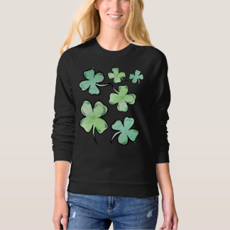Lucky Irish Shamrocks for St. Patrick's Day Sweatshirt