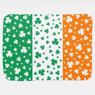 Lucky Irish Shamrocks Swaddle Blanket