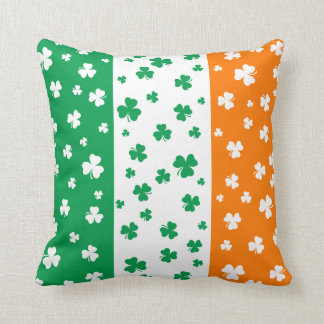 Lucky Irish Shamrocks Throw Pillow
