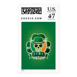 Lucky Irish skull Postage